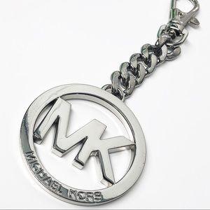Michael Kors Silver Signature Logo Key Fob